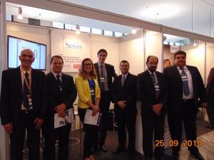 O stand da SESIN e os expositores durante o ECM SHOW SP 2014